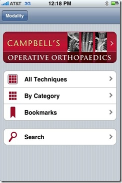 Post image for Campbell's Operative Orthopedics App for the iPhone: What Every Orthopedic Surgeon Wants [App Review]