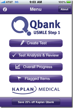 Post image for Kaplan&#8217;s Step 1 QBank now on your iPhone &#8211; the &#8220;test version&#8221; [App Review]