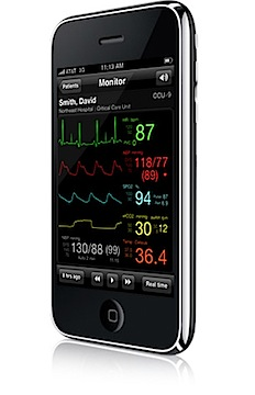 Post image for Airstrip Critical Care gets FDA approval and can begin deploying real-time iPhone monitoring to hospital ICUs