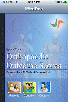 Post image for Ortho Scores is a handy tool for clinical research, could allow patients to enter their own outcome scores on iPad