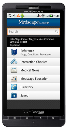 Post image for Medscape app for Android releasing in upcoming weeks
