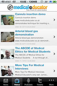 Post image for Medical Educator iPhone app gathers web resources to help UK medical students pass their exams