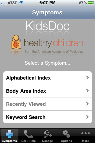 Post image for KidsDoc, by Academy of Pediatrics, is an app every parent should have