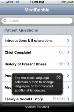 Post image for Free iPhone medical translation app sets a new standard, MediBabble Translator app