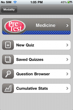 Post image for PreTest USMLE Apps by Modality have potential to be great, but fall short