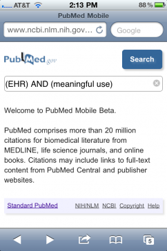 Post image for PubMed launches web app, allows mobile search of medical literature on smart phones