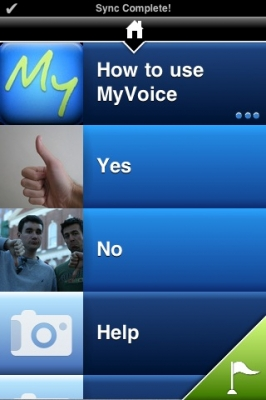 Post image for MyVoice Communication Aid is a simple and robust iPhone app for patients with speech difficulties
