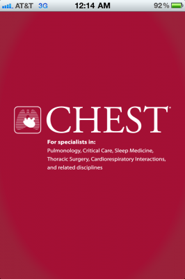 Post image for The revered CHEST Journal, now an app for the iPhone & iPad, gets reviewed