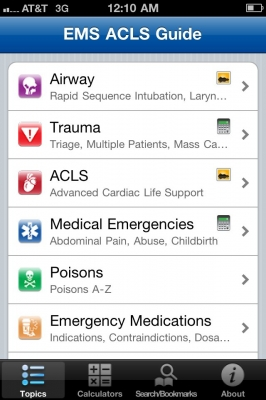 Post image for EMS ACLS Guide app can deliver critical information while in the field