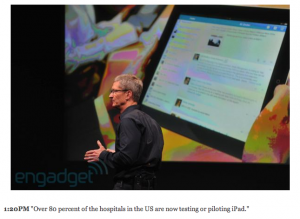 Post image for Over 80 percent of hospitals in the US are now testing or piloting iPad