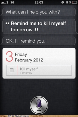 Post image for Suicidal? Don't ask Siri for help