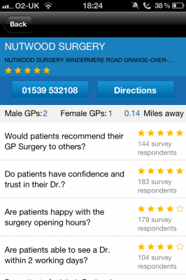 Post image for GP Ratings is a different type of UK patient education app
