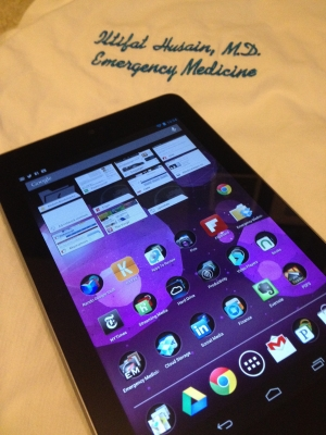 Post image for Physician review of the Nexus 7 Google tablet, fits comfortably in your white coat
