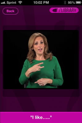 Thumbnail image for Actress Marlee Matlin brings sign language lessons to your phone with Marlee Signs app