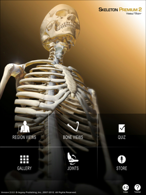 Post image for Skeleton Premium 2 app from Visible Body brings 3D anatomy models and animations to the iPad