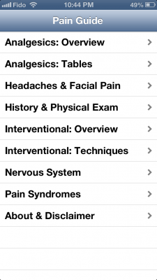 Post image for Pain Guide App helps with pain management, but has a painful user interface