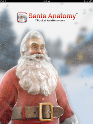 Post image for Just in time for the holidays, Santa Anatomy app!
