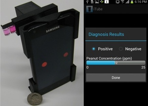 Post image for Ozcan Lab unveils smartphone attachment for testing allergen levels in food