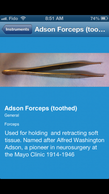 Post image for Surgical Instruments App is a good guide for the OR