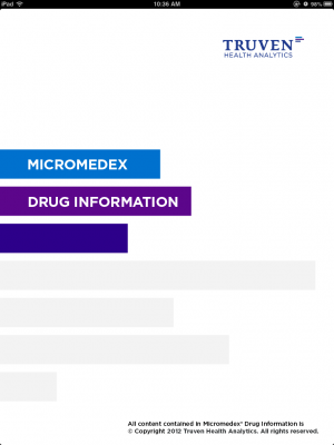 Post image for Micromedex Drug Interactions app is a helpful tool to identify possible medication interactions