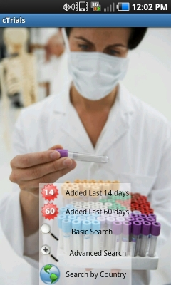 Post image for cTrials Android app efficiently searches global as well as domestic clinical trial information