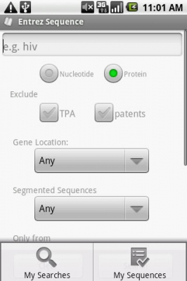 Post image for Entrez Sequence is proficient at searching gene information on your Android device