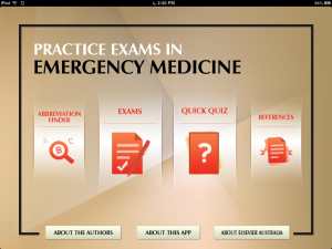 Post image for Practice Exams in Emergency Medicine is an evidence based iPad board review app