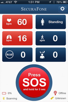 Post image for SecuraFone Health app wirelessly monitors vitals anywhere and provides alerts in emergencies