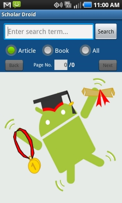 Post image for Scholar Droid shines as a Google Scholar mobile search engine