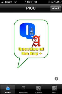 Post image for PICU Question of the Day app helps students & residents assess knowledge on busy rotations