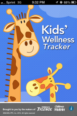 Post image for Kids' Wellness Tracker app tracks your child in sickness and in health