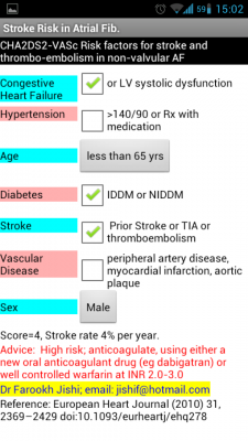 Post image for Atrial Fibrillation Scoring app for Android