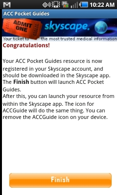 Post image for ACC Pocket Guides works well within Skyscape to deliver evidence-based guidelines to clinicians