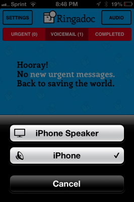 Post image for Ringadoc app allows you to listen to your patient's after hour messages on your iPhone or iPad