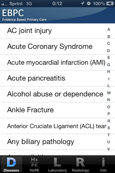 Evidence Based Primary Care medical app delivers data behind common tests to the point of care