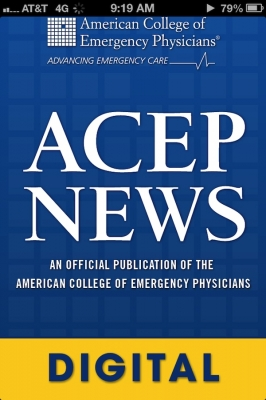 Post image for American College of Emergency Medicine embraces digital media with ACEP News App