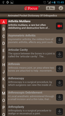 Post image for Animated Pocket Dictionary of Orthopedics is a solid android medical app