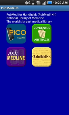 Post image for PubMed4Hh app provides different access points for searching PubMed