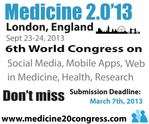 Post image for Driving the effort for an mHealth evidence base, Medicine 2.0 is around the corner
