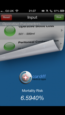 Post image for Using an iPhone app to calculate the risk of death in the operating room
