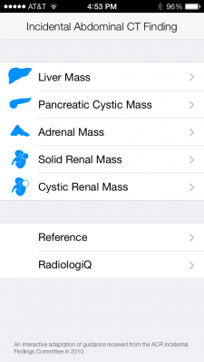 Post image for The Incidental Finding Guidelines app helps radiologists with incidentalomas