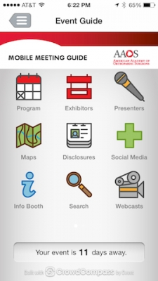 Post image for AAOS Events App by CrowdCompass takes meeting mobility technology to a new level