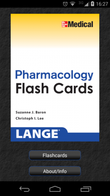 Post image for Pharmacology review for the USMLE, Lange flashcards on Android